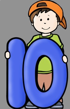 big kids with numbers 0 to 10 clip art by whimsy workshop teaching rh teacherspayteachers com clip art of numbers around the house clip art of numbers around the house
