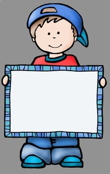 Big Kids With Signs Clip Art