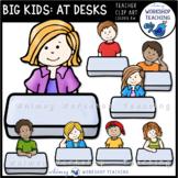 Big Kids at Desks Clip Art - Whimsy Workshop Teaching