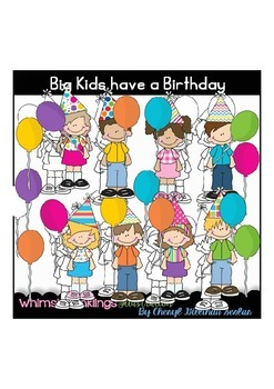 Big Kids have a Birthday Clipart Collection