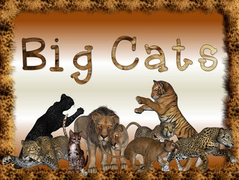 Big & Large Wild Cats Research Tri-Folds and Graphic Organizers