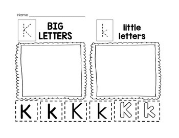 Letter Recognition: Big Letter Little Letter