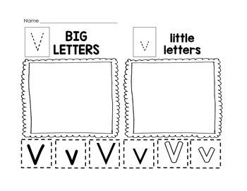 Letter Recognition: Big Letter Little Letter