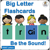 Big Letters and Sound Flashcards for Word Work complement Jolly Phonics!