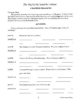 Big Lie Literature Activity Guide