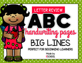 Big Line Handwriting Letter Review for Beginning Learners