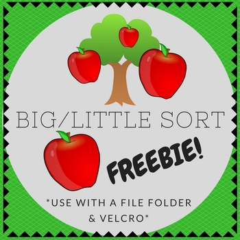 Big / Little Apple Tree Folder Sorting Activity (for children with Autism)