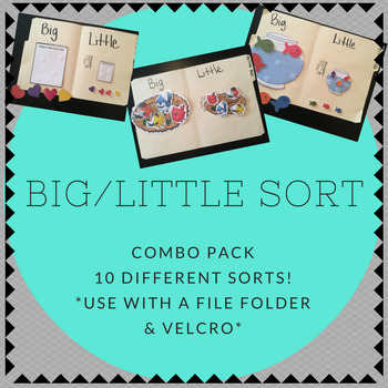Big / Little COMBO PACK Folder Sorting Activity (for children with Autism)