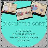 Big / Little COMBO PACK Folder Sorting Activity (for child
