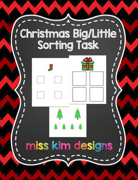 Christmas Big / Little Sorting Task for Early Childhood Special Education
