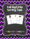 Big / Little Fall Sorting Folder Game for Early Childhood
