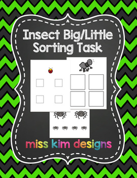 Insect Big / Little Sorting Task for Early Childhood Speci