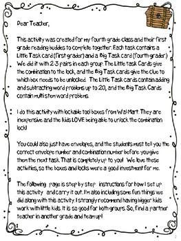 Big - Little Math Treasure Hunt (an escape room activity)