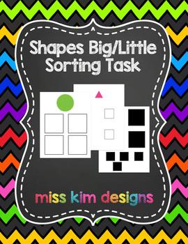 Shape Big / Little Sorting Folder Game for Early Childhood
