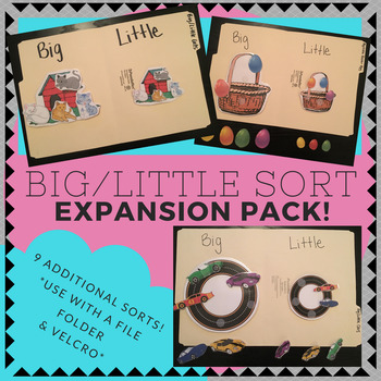 Big / Little Folder Sorting Activity (for children with autism) - EXPANSION PACK