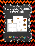 Thanksgiving Big / Little Sorting Task for Early Childhood Special Education