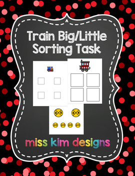 Train Big / Little Sorting Task for Early Childhood Specia