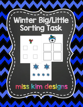 Big / Little Winter Sorting Task for students with Autism