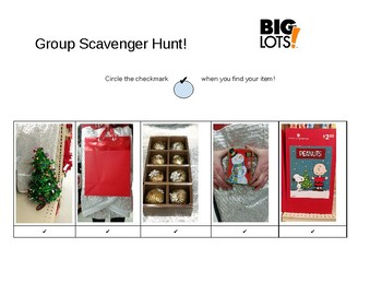 Big Lots Christmas Item Scavenger Hunt