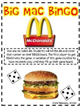 Big Mac Bingo