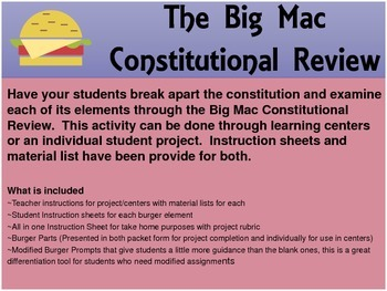 Big Mac Constitutional Review Project