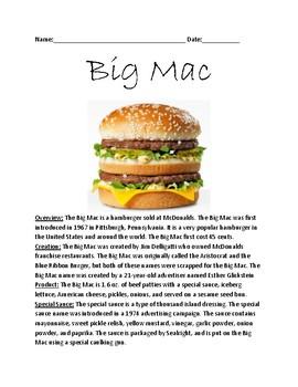 Big Mac - McDonalds Full history 50th anniversary questions information