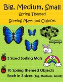 Big, Medium, Small-Spring Theme Sorting Mats and Objects,
