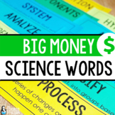 Science Word Wall {Big Money Words}