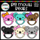 Big Mouth Bears Clipart