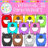 Big Mouth Rainbow Bears Clipart