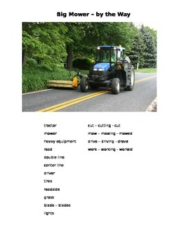 Big Mower - By the Way  ESOL language prompt, sub plans