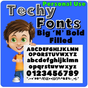 Big 'N' Bold Filled Font for Personal Use
