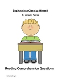 Big Nate in a Class by Himself Reading Comprehensions Questions