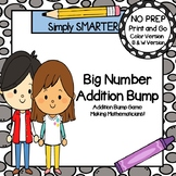 Big Number Addition Bump:  NO PREP Double Digit Addition Without Regrouping Game
