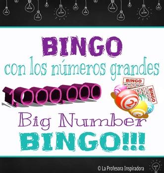 Big Number Bingo! / ¡Bingo con los números grandes! - A Bilingual Game