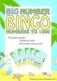 Big Number Beach Bingo - Numbers to 1000 (21 pages)