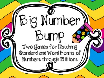 Big Number Bump-Numbers through Millions