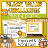 Place Value Task Cards Multiple Choice Cards for CCSS 4.NBT.2