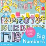 Big Numbers Classroom Display