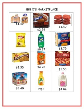 Big O's Marketplace (Adding and Subtracting Decimals)