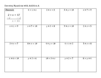 Big Ol' Algebra Packet - Scaffolded Practice