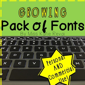 GROWING Pack of 45+ Personal and Commercial Use Fonts