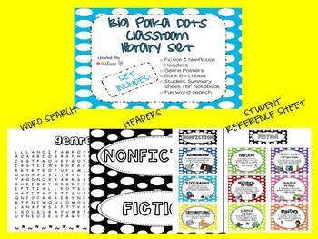 Big Polka Dots Classroom Library Set
