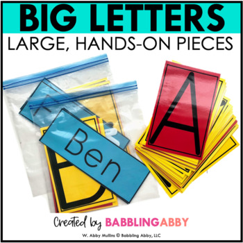 Big Printable Letters for Building Names, Sight Words, Bulletin Boards, and More