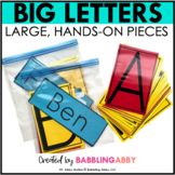 Big Printable Letters for Building Names, Sight Words, Bul