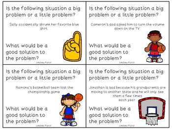 Big Problem, Little Problem Basketballs: A Social Skills Activity
