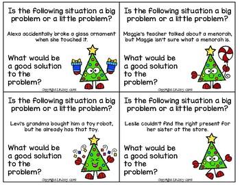 Big Problem, Little Problem Holiday Trees: A Social Skills Activity