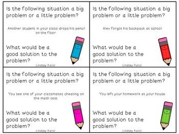 Big Problem, Little Problem Pencils: A Social Skills Activity