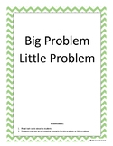 Big Problem Little Problem Task Cards