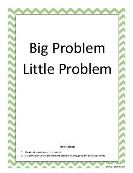 Big Problem Little Problem Task Cards